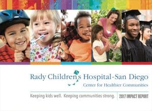 Rady Children's Hospital - San Diego. Chiildren and young adults and helpful parents.