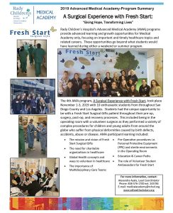 2020 Advanced Medical Academy November Program Summary